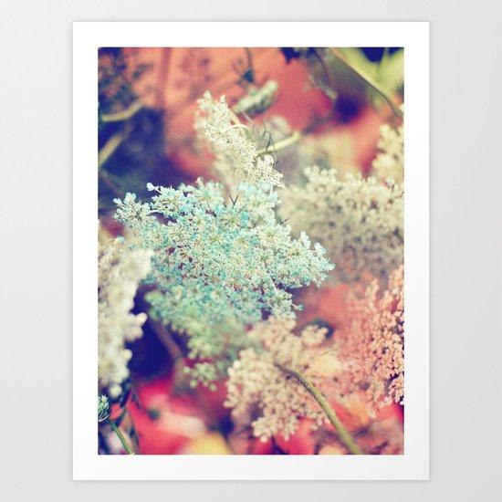 Dyed Lace Art Print