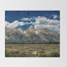 The Grand Tetons - Summer Mountains Throw Blanket