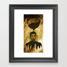 Man time Framed Art Print