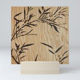 Japanese bamboo buddha wood art Mini Art Print