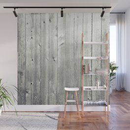 Black & White Wood Texture Wall Mural