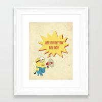 minion Framed Art Prints featuring minion by Dripdrop