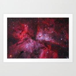 Carina Nebula Milky Way Galaxy Art Print