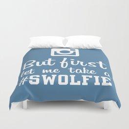 #swolfie Duvet Cover