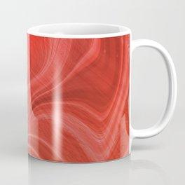 Red Swirl Marble Coffee Mug