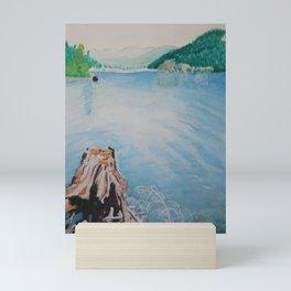 Oakridge Reservoir #4 watercolor painting Mini Art Print