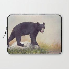 Young American Black Bear near water Laptop Sleeve