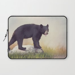 Young American Black Bear near water Laptop Sleeve