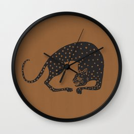 Blockprint Cheetah Wall Clock