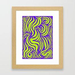 IRON of STEEL green on purple Framed Art Print