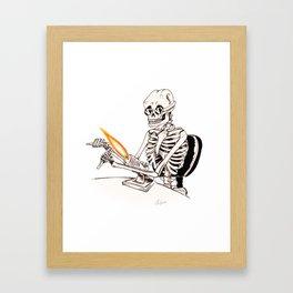 Skelly Flamerworker Framed Art Print