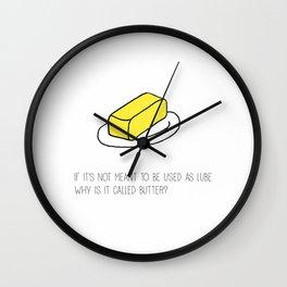 Butter Wall Clock