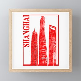Shanghai Framed Mini Art Print