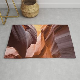 antelope canyon beam Rug