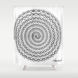 spiral 3 Shower Curtain