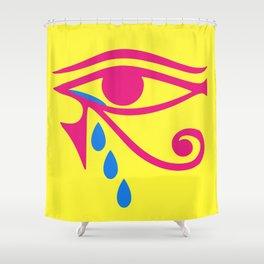 Eye of Horus Tears Shower Curtain