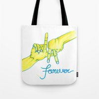 lakers Tote Bags featuring Lakers Forever by NBA Textile