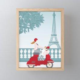 Shopping in Paris Framed Mini Art Print