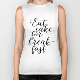 Funny Quote Eat Cake For Breakfast Funny Wall Art Printable Wall Art Typography Print Comic Quote Biker Tank