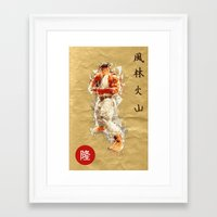 street fighter Framed Art Prints featuring Street Fighter II - Ryu by Carlo Spaziani