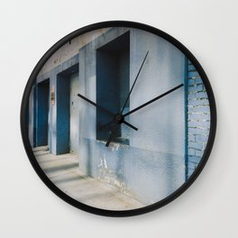 Blue Street Abstracts 1 Wall Clock