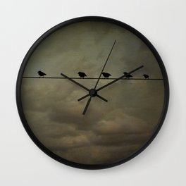 Storm birds Wall Clock