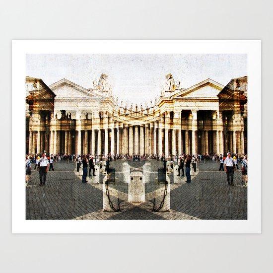 Saint Peter's square, Rome Art Print