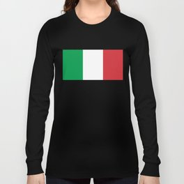 National Flag of Italy, High Quality Image Long Sleeve T-shirt