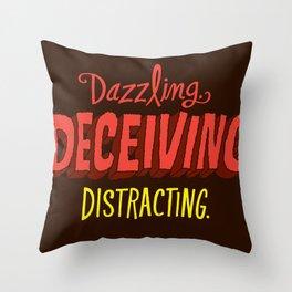 Triple D's Throw Pillow