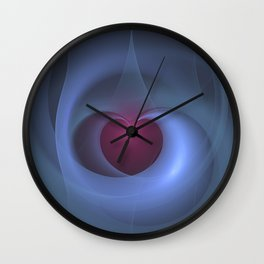 Take Care of My Heart Fractal Wall Clock