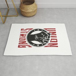 Union Strong Pro Labor Union Worker Protest Light Rug
