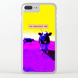 Psychedelic Cows Clear iPhone Case