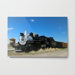 Denver & Rio Grande Steam Engine Metal Print