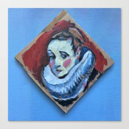 tiny portrait of woman in ruff Canvas Print