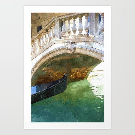 Take me back to Venice Art Print