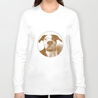 pit bull Long Sleeve T-shirts featuring Pit Bull by George Peters