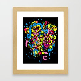 Parrot-Island!! Framed Art Print