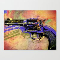 gun Canvas Prints featuring gun by mark ashkenazi