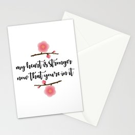 MY HEART IS STRONGER NOW Stationery Cards