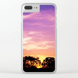 East Texas Sunset Clear iPhone Case