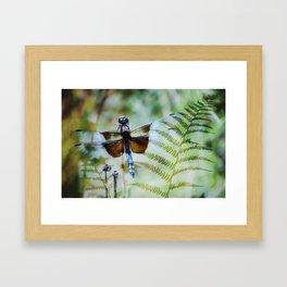 Dragonfly :: Winged Fern Framed Art Print