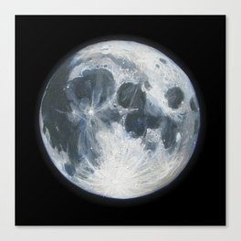 Moon Portrait 1 Canvas Print
