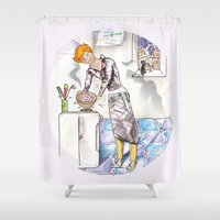 chef Shower Curtains featuring petit chef by bgallery
