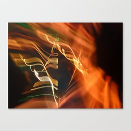 Energetic abstract light Canvas Print