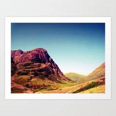 Glencoe, Scotland. Art Print