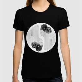 selene and eos (black and white) T-shirt