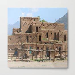 A Taos Pueblo Building Metal Print