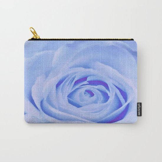 Blue Watercolor Rose Carry-All Pouch