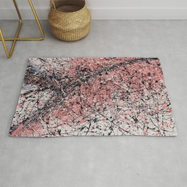 Paris - Jackson Pollock style drip painting design, Abstract art prints Rug
