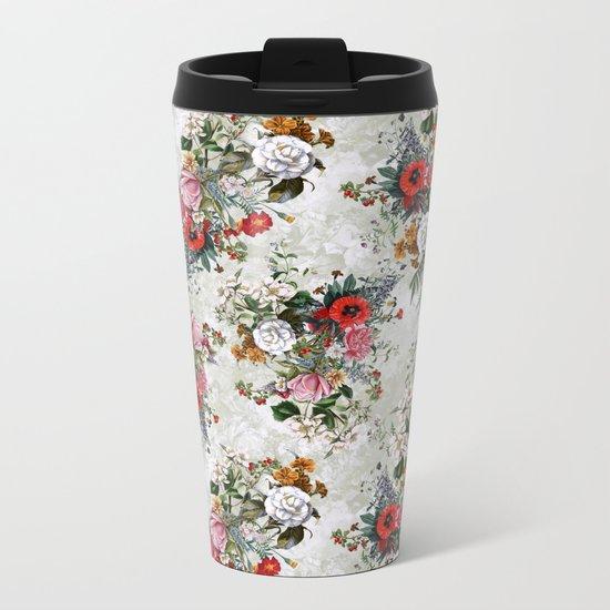 Botanical Flowers IV Metal Travel Mug